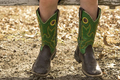 Små cowboykängor Arkivfoton