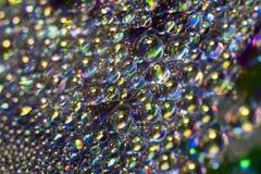 Små droppar på CD Fotografering för Bildbyråer