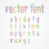 Små färgrika alfabetversalar A till z royaltyfri illustrationer