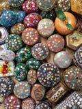 Små färgrika askar Fotografering för Bildbyråer