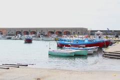Små fartyg i hamnen Royaltyfri Fotografi