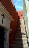 Små gator av Santa Catalina Monastery i Arequipa Fotografering för Bildbyråer