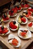 Små grönsak- och ostmellanmål Royaltyfri Bild