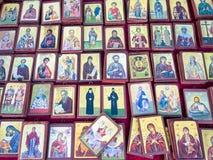 Små grekiska ortodoxa symboler Arkivbild