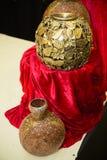 Små guld- vaser Arkivbilder