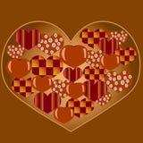 Små hjärtor inom en stor hjärta Arkivfoton