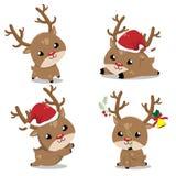 Små hjortar i juldag royaltyfri illustrationer