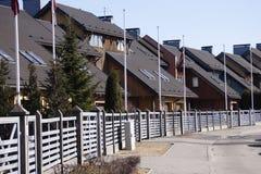 Små hus Arkivfoton
