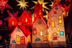 Små hus för jul royaltyfria foton