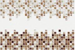 Små kulöra dekorativa tegelplattor, mosaik arkivfoto