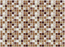 Små kulöra dekorativa tegelplattor, mosaik arkivfoton