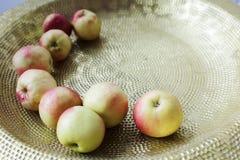 Små nordliga äpplen Arkivfoton