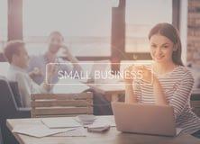 små och medelstora företagbegrepp arkivbild