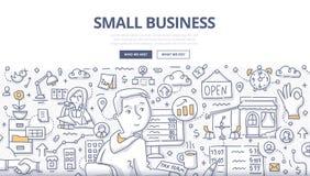 Små och medelstora företagklotterbegrepp royaltyfri illustrationer