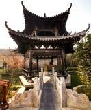 Små paviljonger i trädgårdarna av Yao Wan royaltyfri foto