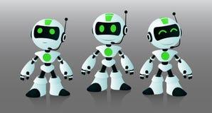Små robotassistenter stock illustrationer
