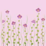 Små rosa färgblommor Vektor Illustrationer