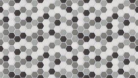 Små sexhörniga tegelplattor som är sömlösa av marmor Arkivfoto