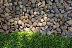 Små stenar och nytt grönt gräs Fotografering för Bildbyråer