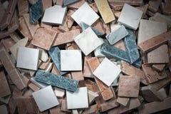Små tegelplattor av italiensk marmor royaltyfri bild
