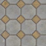 Små tegelplattor som läggas ut ur stora Gray Polygons och Royaltyfri Bild