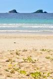Små tropiska öar på horisonten Fotografering för Bildbyråer
