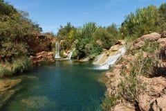 Små vattenfall nära Tavira, Algare, Portugal Royaltyfria Foton