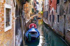 Små Venedig kanaliserar Arkivfoto