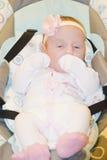 Småbarnet på en gunga Fotografering för Bildbyråer