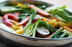 småfiskstirgrönsak Arkivbild