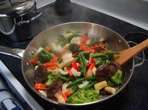 småfiskstirgrönsaker Royaltyfria Foton
