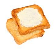 Smör på bröd royaltyfri foto