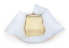 Smör som isoleras på vit bakgrund Royaltyfri Fotografi