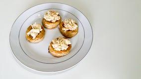 Smördegpizza och surimi Royaltyfri Bild