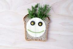 Smörgås för barn Arkivbild