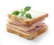 smörgås för bild för ostmatskinka Arkivfoto