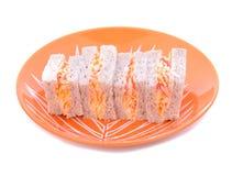 Smörgås för Closeupkrabbapinne Arkivbild