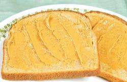 Smörgås för jordnötsmör Fotografering för Bildbyråer