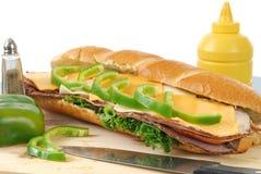 smörgås för kallt snitt royaltyfria bilder