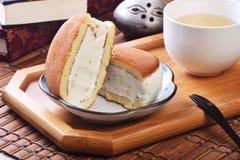 Smörgås för romrussinglass arkivbilder