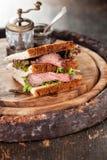 Smörgås för steknötkött Fotografering för Bildbyråer