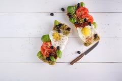 Smörgås med ägg Royaltyfria Bilder