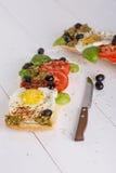 Smörgås med ägg Fotografering för Bildbyråer