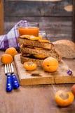 Smörgås med aprikons fotografering för bildbyråer