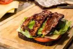 Smörgås med bacon Royaltyfri Bild