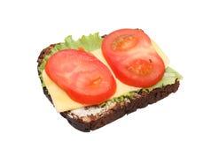 Smörgås med brunt bröd Fotografering för Bildbyråer