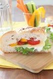 Smörgås med grönsaker och ost Fotografering för Bildbyråer
