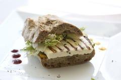 Smörgås med griled chees Royaltyfria Bilder