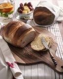 Smörgås med jordgubbar Fotografering för Bildbyråer