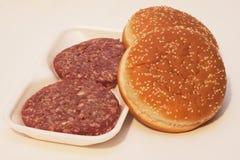 Smörgås med kött Arkivbild